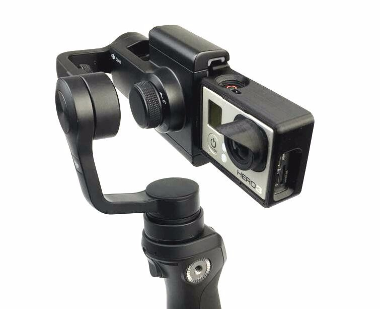 Gopro Hero 3,4 and 5 Camera Mount Adapter Switch Plate for DJI OSMO Mobile Han