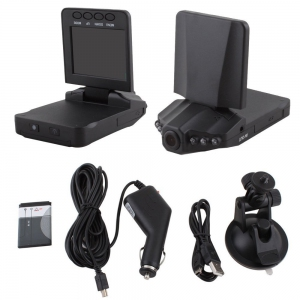 2.5' HD Car 720P DVR Road Video Camera Recorder Camcorder LCD 270° Degree
