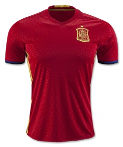 Spain Home Euro Jersey 2016  Kits Player Issue Adizero Addidas Jersi Sports