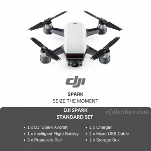 (Ready Stocks - Within 1 Week) DJI SPARK STANDARD SET Palm-Sized Mini Hand Gestures Selfie Drone