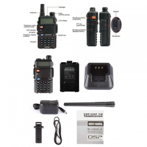 Walkie Talkie - BaoFeng BF UV5R | Radio Two Way Radio UV5R Handheld Transceiver Murah Harga Price