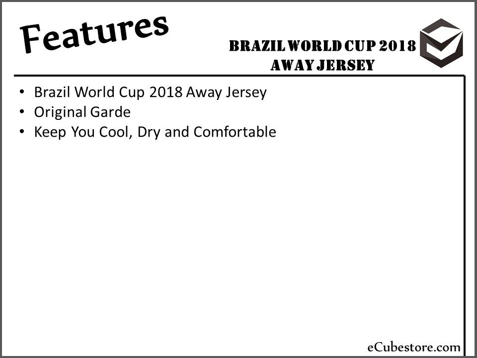 eda91c306b20 Jersey - Brazil Away Kit World Cup Official 2018 Jersey Football Jersey  Online Malaysia