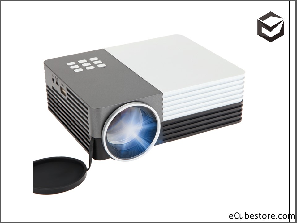 Projector gm50 portable mini projector mini projector for Mini portable pocket projector