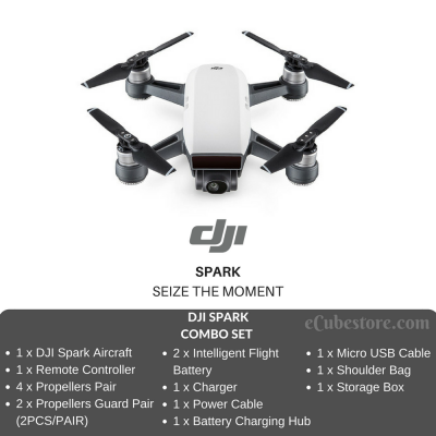 Drone - DJI SPARK FLY MORE COMBO SET Selfie Drone Malaysia | Quadcopter Malaysia Murah Harga Price