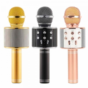 Microphone - Wster WS-858 WS858 Karaoke KTV Player Bluetooth Microphone Malaysia | Bluetooth Wireless Microphone Murah Harga Price Malaysia