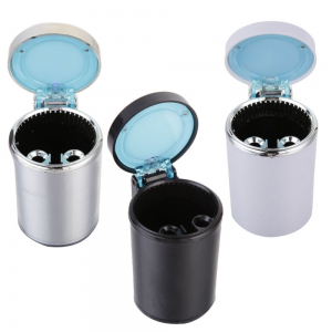 Car Accessories - Type R Cigarette Ash Holder Cup Movable Car Ashtray LED Light Ashtray Auto