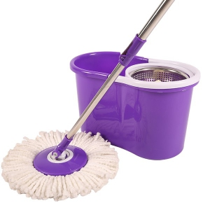 Spin Mop - Stainless Steel Pole with Microfiber Mop Head Set | Spin Mop Malaysia Murah Harga Price