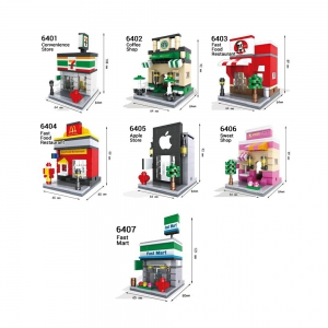 Lego - HSANHE Lego Compatible Mini Street / Cartoon Street City Building Blocks Toys Shop Malaysia | Lego Store Online Murah Harga Price