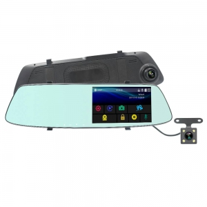 Car Camcorder - 5' Dual Lens Car DVR Harga Price Malaysia | Rear-View Mirror Camera Recorder