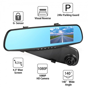 Car Camcorder - 4.3 inch Dual lens Harga Price Malaysia | Rear-View Mirror Camera Recorder DVR