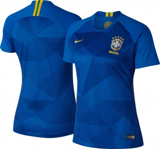 Jersey - Women Brazil Away  World Cup Official 2018 Jersey Football Jersey Online Malaysia | Jersey Clothing Murah Harga Price