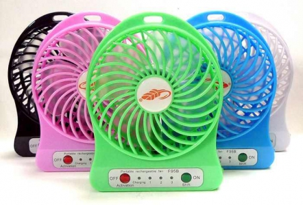 Mobile Phone Accessories - Portable Mini Fan Adjustable with USB Strong Wind Rechargeable | Mini Fan Murah Harga Price Malaysia