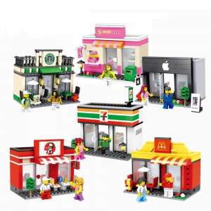 Lego - HSANHE Lego Compatible Mini Street City Building Blocks Toys Shop Malaysia | Lego Store Online Murah Harga Price